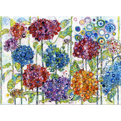 grafika-Puzzle - 300 pieces - Sally Rich - Summer Hydrangeas