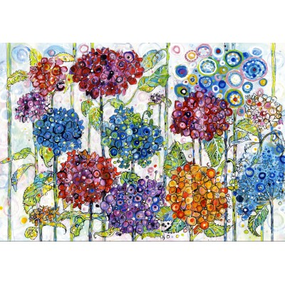 grafika-Puzzle - 100 pieces - Sally Rich - Summer Hydrangeas