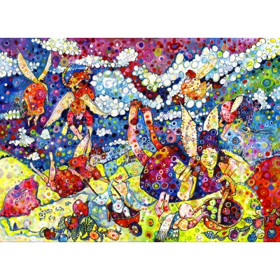 grafika-Puzzle - 300 pieces - Sally Rich - Gardening Angels