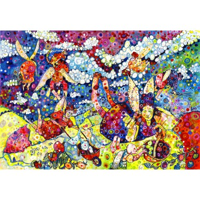 grafika-Puzzle - 100 pieces - Sally Rich - Gardening Angels
