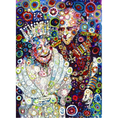 grafika-Puzzle - 300 pieces - Sally Rich - The Queen and Prince Philip