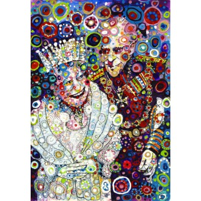 grafika-Puzzle - 100 pieces - Sally Rich - The Queen and Prince Philip