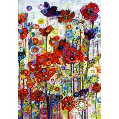 grafika-Puzzle - 100 pieces - Sally Rich - Poppies