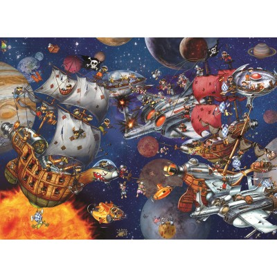 grafika-Puzzle - 300 pieces - François Ruyer - Space Batttle