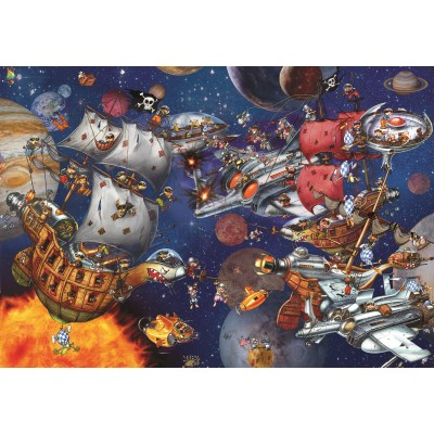 grafika-Puzzle - 100 pieces - François Ruyer - Space Batttle