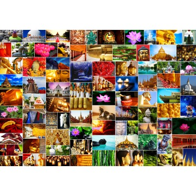 grafika-Puzzle - 100 pieces - Collage - Zen