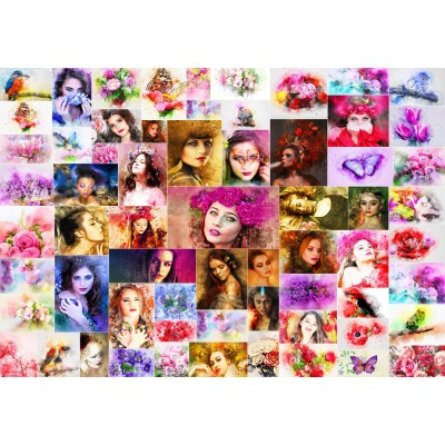 grafika-Puzzle - 100 pieces - Collage - Women