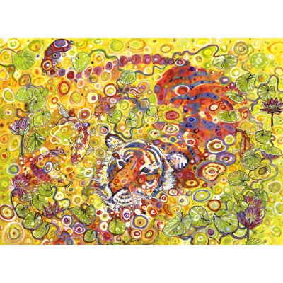 grafika-Puzzle - 300 pieces - Swimming Tiger