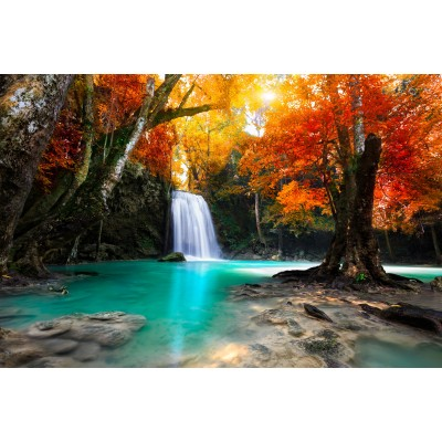 grafika-Puzzle - 150 pieces - Wooden Jigsaw Puzzle - Deep Forest Waterfall