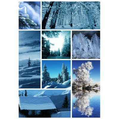 grafika-Puzzle - 150 pieces - Wooden Jigsaw Puzzle - Winter Collage