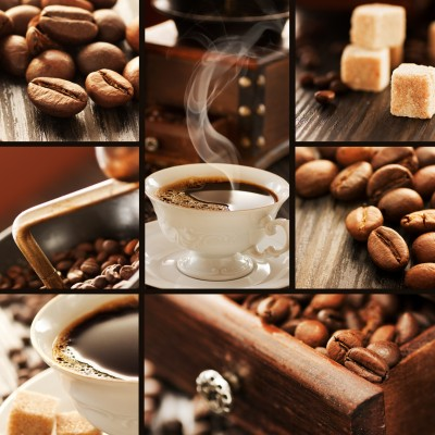 grafika-Puzzle - 80 pieces - Wooden Jigsaw Puzzle - Coffee Collage