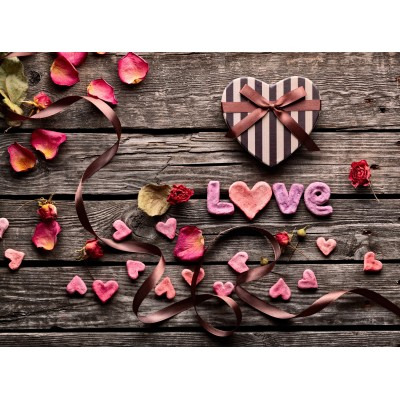 Grafika-Wood-00016 Wooden Jigsaw Puzzle - Love